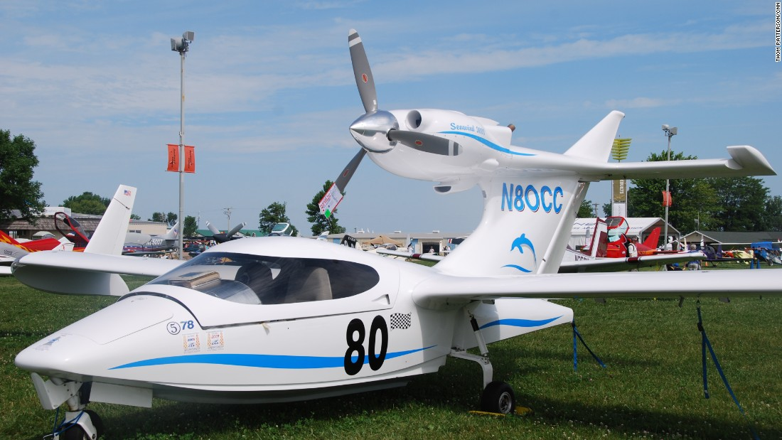 Experimental aircraft like this 2001 Seawind 3000 are a big part of the week at Oshkosh.