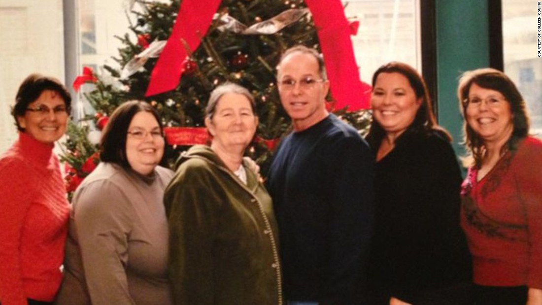 This is part of Colleen's support system: her siblings.  From left to right: Chris Wennersten, Colleen, Caren Skriloff, Chuck Covino, Cat Martirano, and Cindy Puzzanchera.