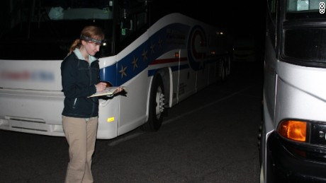 The CDC's Cara Cherry launched a program to survey bus drivers at Yellowstone National Park on whether they have passengers with norovirus symptoms.