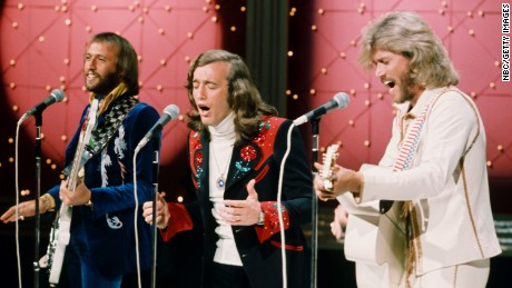 Maurice Gibb, Robin Gibb, Barry Gibb of the Bee Gees