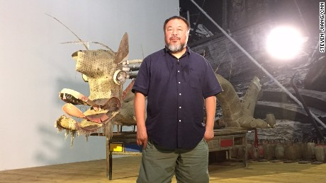 Ai Weiwei in his studio: travel ban lifted