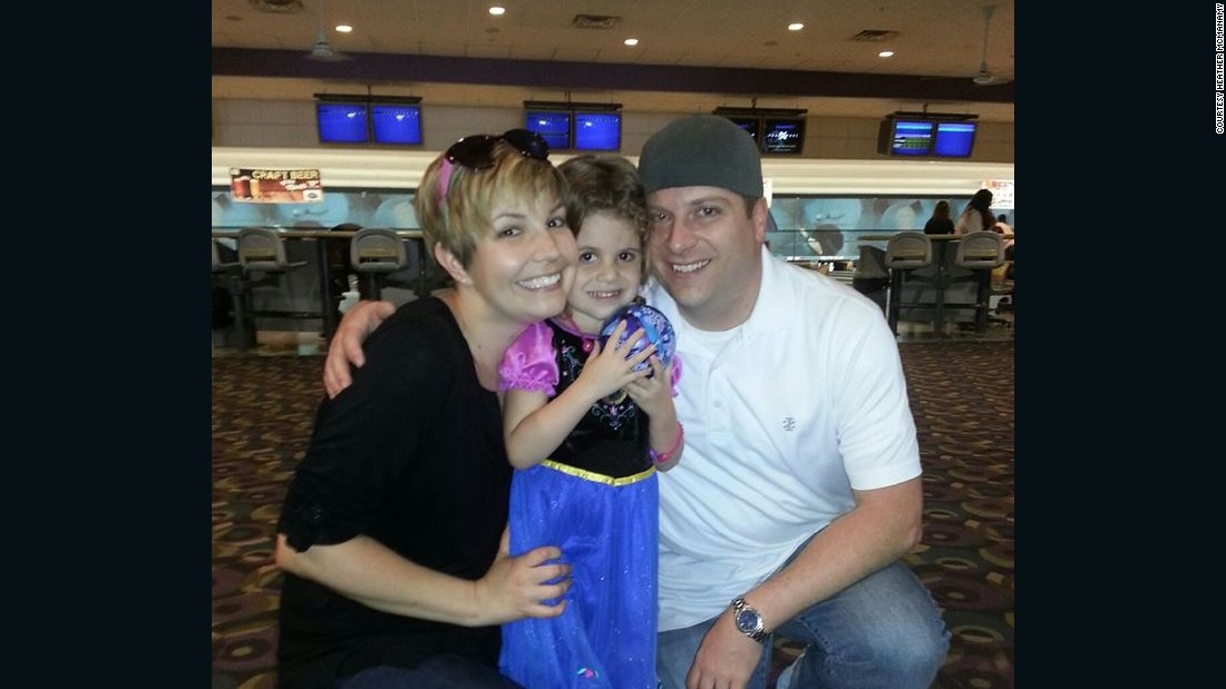 "Another photo from Brianna's birthday in April. ""It was the best bowling 'Frozen' party ever,"" McManamy said."