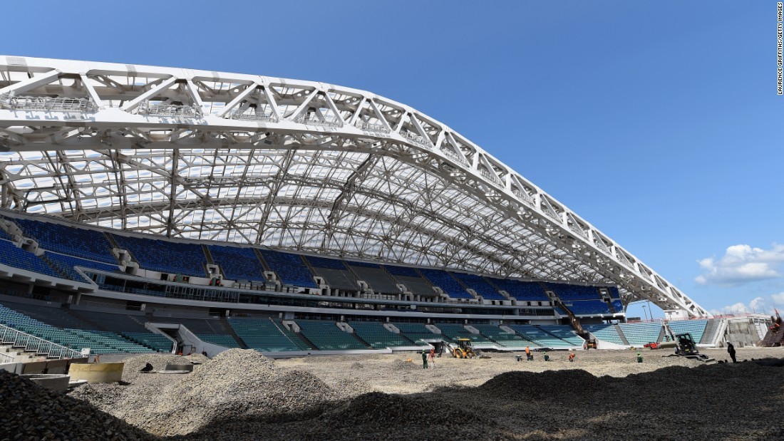 Sochi, which hosted the 2014 Winter Olympics, will also stage games at the 2018 World Cup.