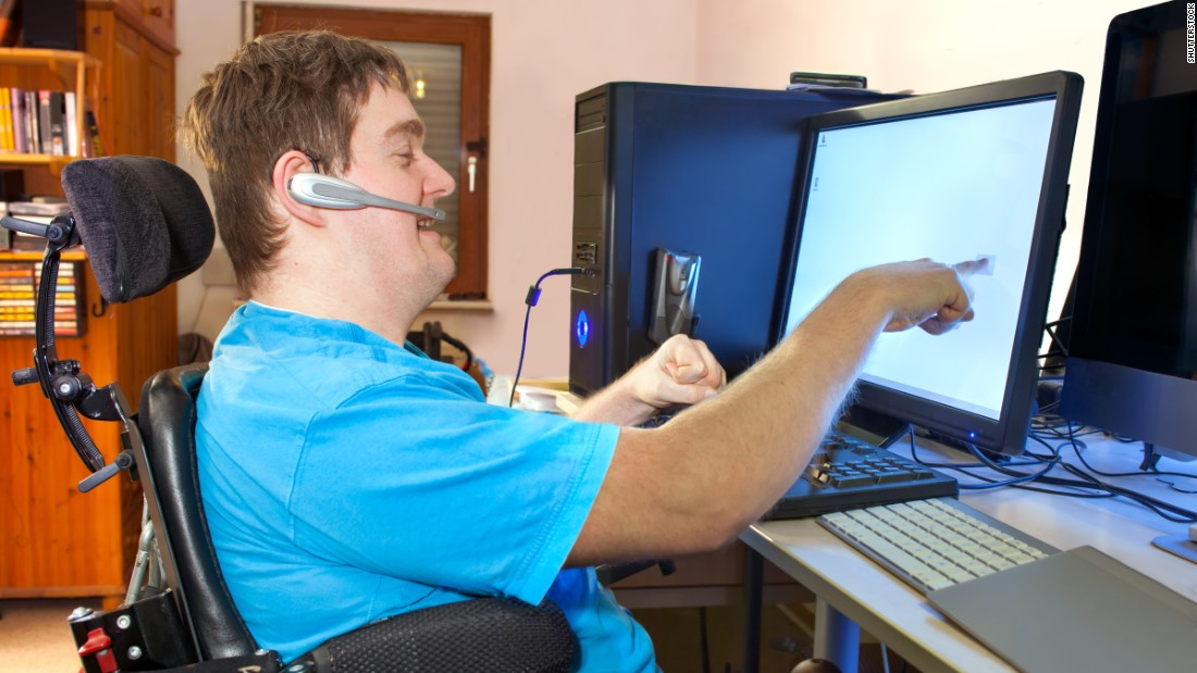 The growth of e-commerce has pushed many jobs into the Internet, but some people with disabilities can't use computers. One new frontier for disability-rights groups is technology that would allow everyone to use them and be active members of the digital world.