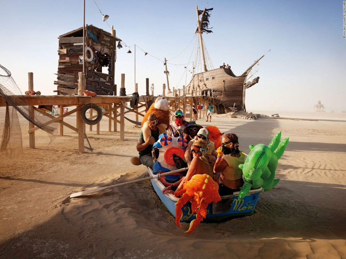 "Guy's Burning Man photography started as ""a desire to capture and interpret the incredible sights around me to help me process it, really.""   ""Pier 2"" by Kevan Christiaens, Matt Schultz and the Pier Group (2012) is shown here."