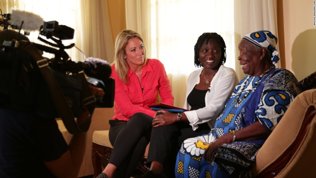 Auma Obama gave Baldwin unprecedented access to the family she shares with the President - including their 93-year-old step-grandmother who still lives in Kogelo -- where their father is buried.