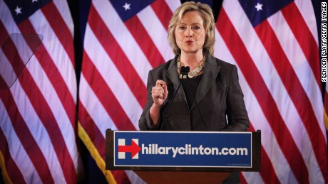 Democratic presidential frontrunner Hillary Clinton gives an economic speech at New York University on July 24, 2015 in New York City.