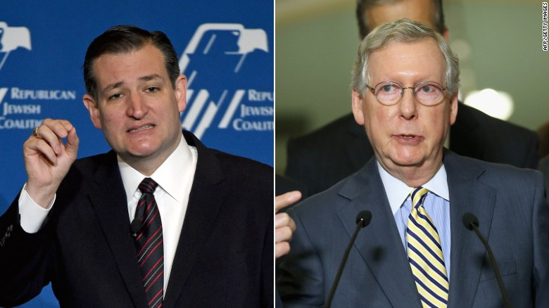 Ted Cruz accuses Mitch McConnell of lying