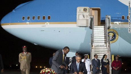 Some Kenyans born over the weekend were given names honoring Obama, including some named AirForceOne Obama.