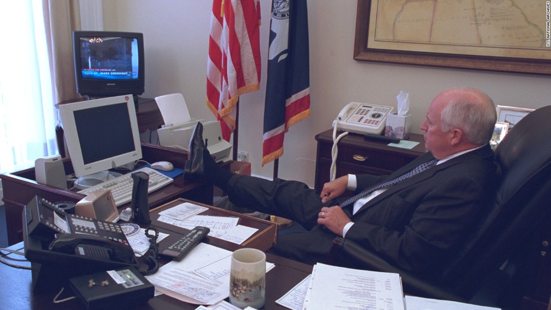 "Cheney was in his West Wing office when he received word that a plane had struck the World Trade Center. The released photos were requested by the coordinating producer for a group that has produced Bush administration films for PBS' ""Frontline."""