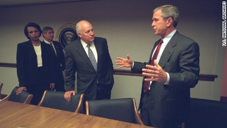 Photos of Cheney, Bush from 9/11 released for first time