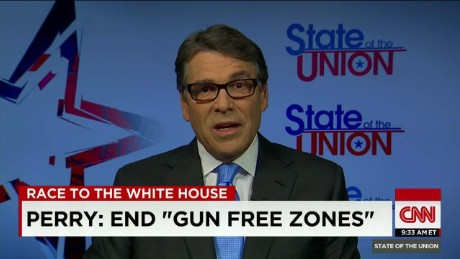 SOTU Tapper: Rick Perry: gun free zones 'are a bad idea'_00021321