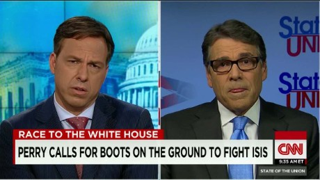 SOTU Tapper: Perry on deploying troops: 'I know the cost of war'_00011315