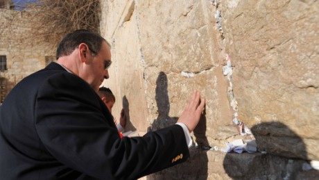 Mike Huckabee at the Western Wall in Jerusalem in 2010