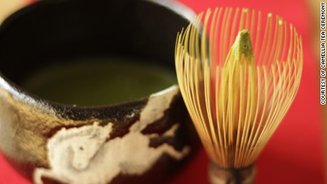 Japanese tea ceremony: The art of a bowl and a bamboo whisk.