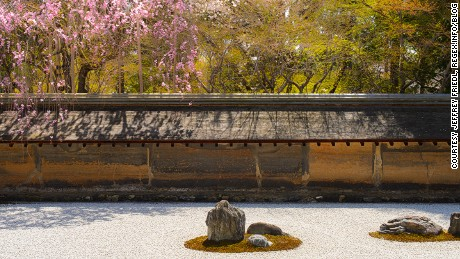 The simple design at Ryoan-ji's zen garden inspires thousands of interpretations.