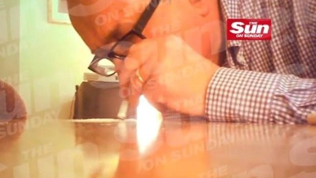 A video, released Sunday by British tabloid The Sun, alleges this footage as Baron John Sewel using cocaine.