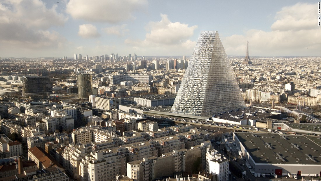 The 180-meter 'Tour Triangle' is the first skyscraper to be built in Paris since 1973.
