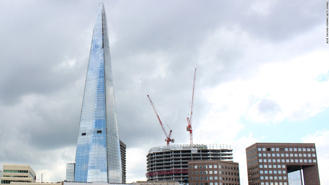 The Shard in London is the tallest building in Europe at 309 meters.