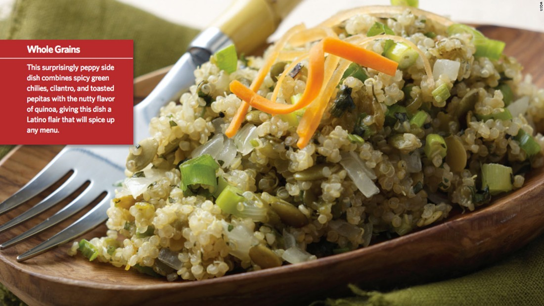 "<a href=""http://www.cnn.com/2015/08/05/health/peppy-quinoa-kids-recipe/index.html""><strong>CLICK HERE FOR FULL RECIPE</a></strong><br />A healthy alternative to rice, quinoa is trendy among kids and parents alike. Sartell, Minnesota, Chef Paul Ruszat, as well as kids, parents and school nutritionists  from Sartell Middle School teamed up to create this peppy version."