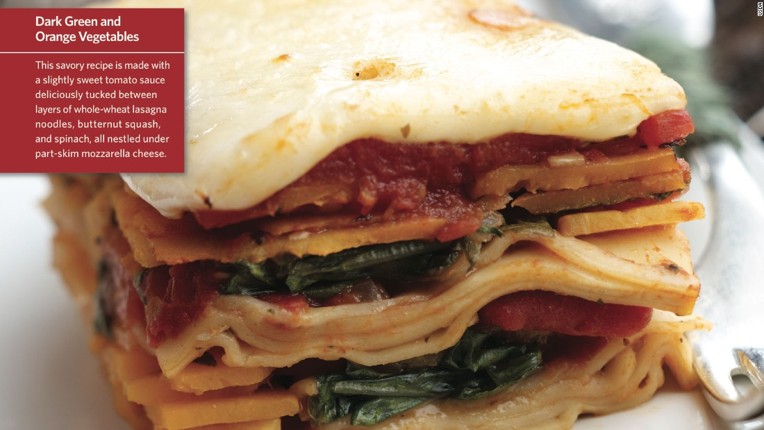 """<a href=""""http://www.cnn.com/2015/08/05/health/squish-squash-lasagna-kids-recipe/index.html""""><strong>CLICK HERE FOR FULL RECIPE</a></strong><br />Another great name sure to please the kids--just don't let them try to """"squish""""it with their hands while it's on the way to their mouths.  Chef Jeff Lindemeyer worked hard building this colorful lasagna to please the kids at Liberty Elementary School in Powell, Ohio."""