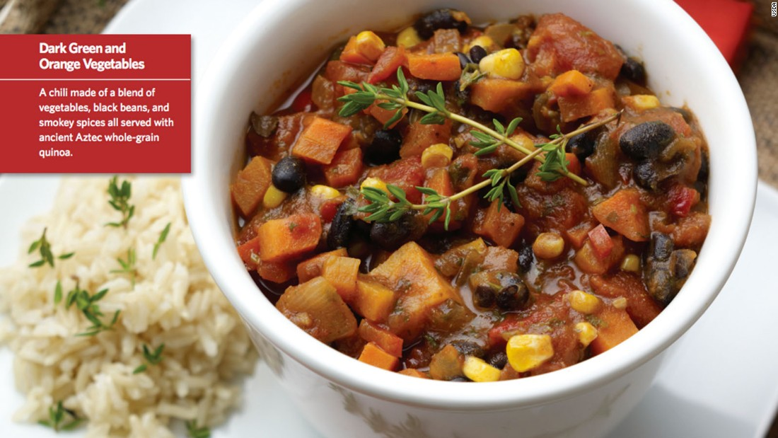 """<a href=""""http://www.cnn.com/2015/08/05/health/smokin-powerhouse-chili-kids-recipe/index.html""""><strong>CLICK HERE FOR FULL RECIPE</a></strong><br />It could almost be called rainbow chili, there's so many colors and textures in this belly-filling hot lunch, but kids will have fun saying that 'it's smokin'!"""" Chef Jenny Breen worked hand in hand with kids and parents at Hopkins West Junior High School in Minnetonka, Minnesota, to create this crowd pleaser."""