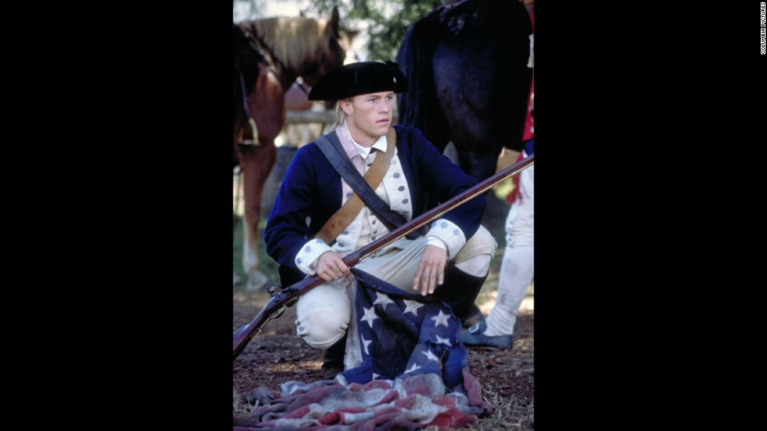 "<strong>""The Patriot""</strong>: A man leads a militia during the American Revolution after a British soldier kills his son in this historical film staring Heath Ledger and Mel Gibson.<strong> (Amazon) </strong>"