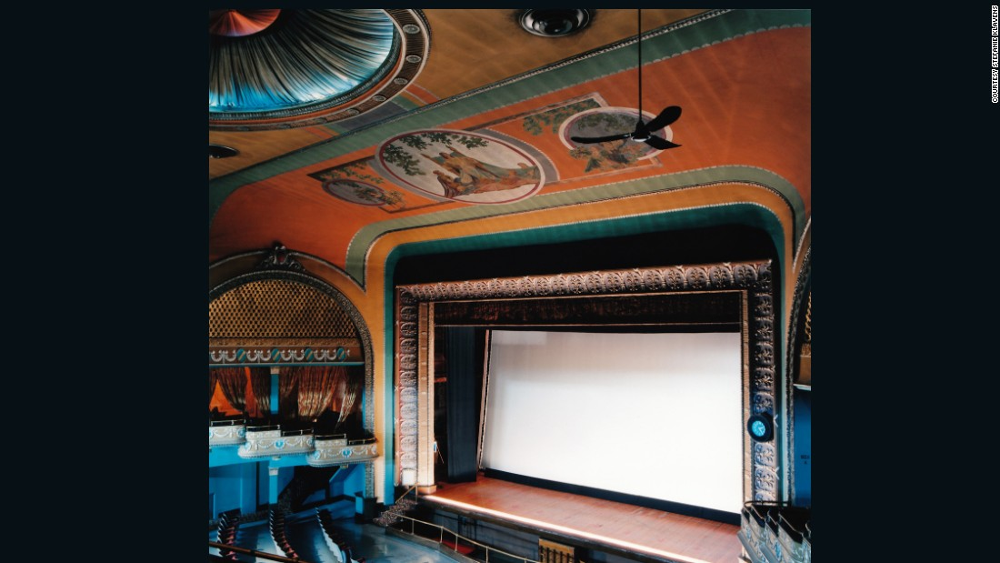 "Built in 1925, this theater reportedly cost about <a href=""http://www.lockportpalacetheatre.org/about/history.php"" target=""_blank"">$300 to build. </a>Today the venue regularly hosts live performances and promotes art education. <br />""Some of these architectural treasures have been saved, finding new life as performing-arts centers, but most have been lost forever,"" explains Klavens in her <a href=""http://www.stefanieklavens.com/theaters-and-drive-ins"" target=""_blank"">artist's statement</a>. <br />""These early theaters represent a unique architectural resource that is rapidly vanishing from the nation's landscape. In fact, in 2001, the National Trust for Historic Preservation placed the single-screen historic theater atop its Most Endangered Historic Places list."""
