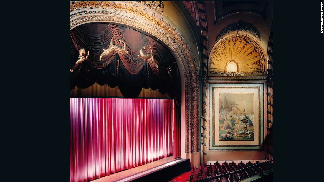 "Built in 1911, the alluring interior of this theater -- and many others -- inspired Klavens to create this project. <br />""I studied at Boston's school of the Museum of Fine Arts and explored lots of mediums, including photography, she explained.<br />""I was working in a variety of mediums, but the lure of photography pulled me in."""
