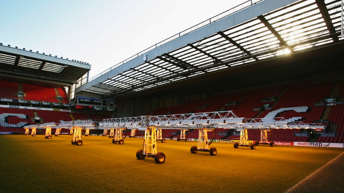 Liverpool used similar lighting equipment to tend their pitch back in 2007.