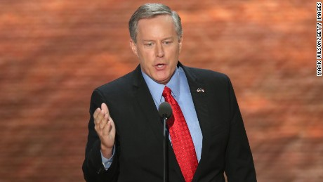 North Carolina 11th District GOP Congressional nominee Mark Meadows speaks during the Republican National Convention at the Tampa Bay Times Forum on August 28, 2012 in Tampa, Florida.