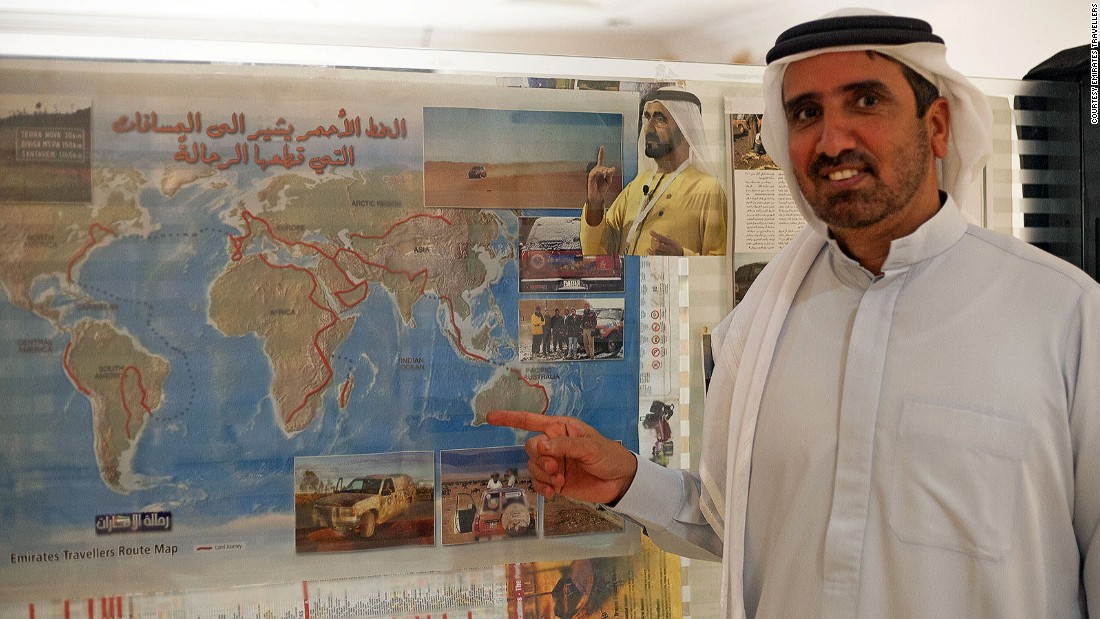 Majrin is no stranger to ambitious travel adventures, having taken part in an Emirati driving expedition around the world. He's currently committee president of Dubai Travellers, an annual gathering of global explorers.