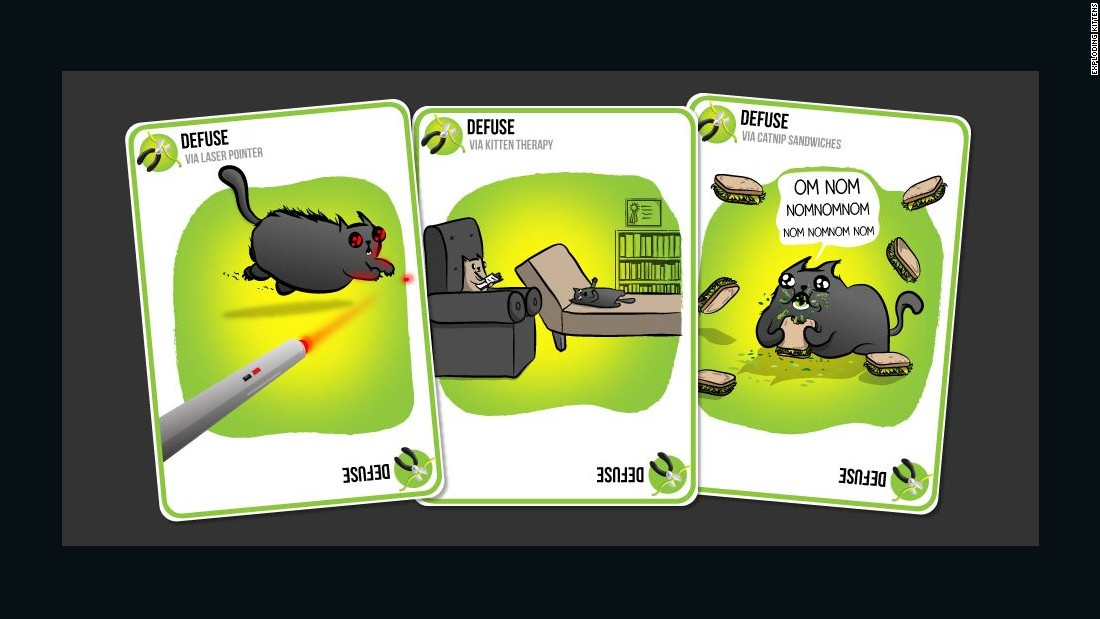 Exploding kittens can be defused with special cards.
