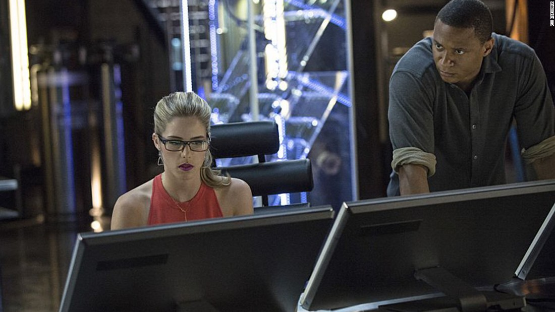 "The brains behind a masked vigilante operation, Felicity Smoak (played by Emily Bett Rickards) is a fan favorite on the CW's ""Arrow."""