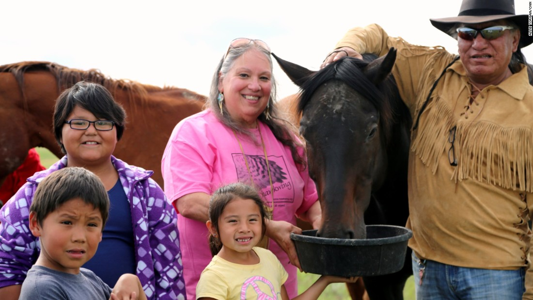 """<a href=""""http://www.cnn.com/2015/07/30/us/cnn-heroes-ripley/index.html"""" target=""""_blank"""">Rochelle Ripley's</a> nonprofit has delivered an estimated $9 million in services and goods to the Lakota people. She and volunteers run a food bank and provide free health services, home renovations and educational opportunities."""