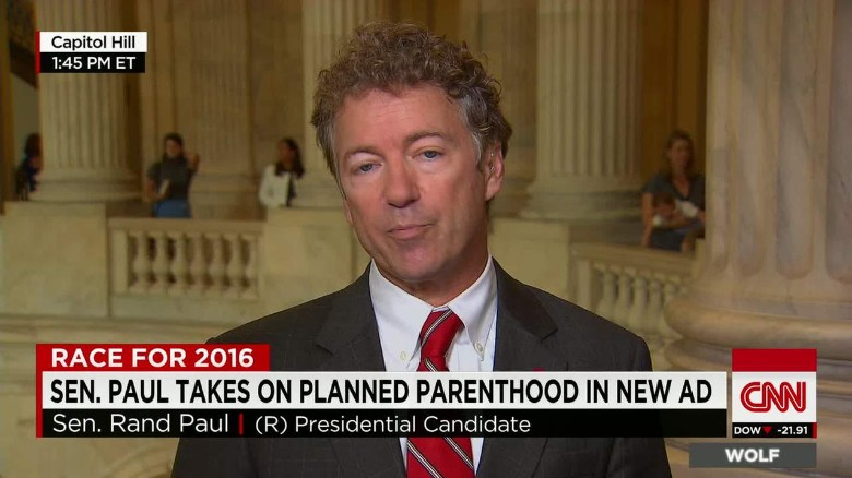 Rand Paul on Planned Parenthood controversy