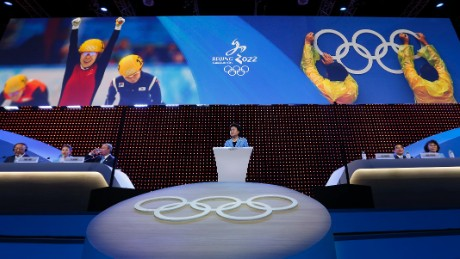 China's Vice Premier Liu Yandong delivers a speech during Beijing's 2022 Olympic Winter Games bid presentation at the 128th IOC session on July 31, 2015 in Kuala Lumpur, Malaysia.