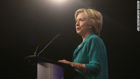 Democratic Presidential hopeful and former Secretary of State Hillary Clinton speaks during the Presidential Candidates Plenary at the National Urban League conference in the Fort Lauderdale Convention Center on July 31, 2015 in Fort Lauderdale, Florida.
