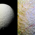 Saturn moon Tethys SPLIT