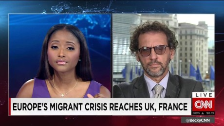 exp Eugenio Ambrosi, Regional Director of IOM's regional office in Brussels, talks to CNNI. _00002001