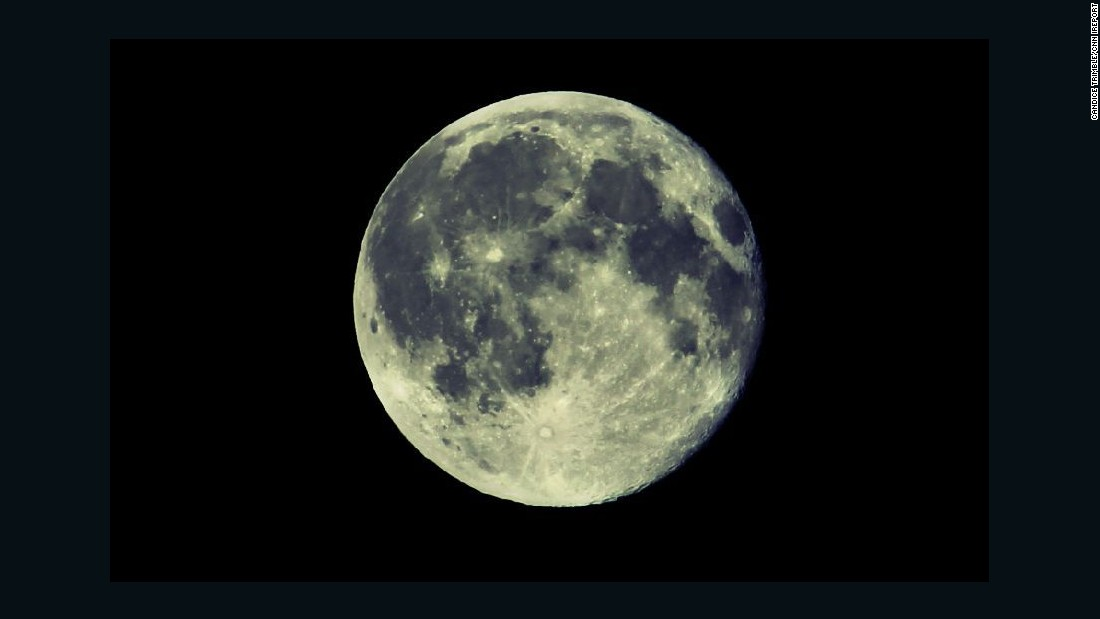 """<a href=""""http://ireport.cnn.com/docs/DOC-1261167"""">Candice Trimble</a> took this photo of the blue moon in Front Royal, Virginia. """"I dabbled with some of the tones on my camera to capture the essence of the 'blue moon,' but not much at all, so I could stay true to the moon's beauty,"""" she said."""