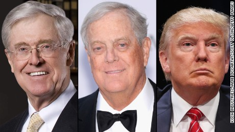 Trump attacks as rivals court Kochs