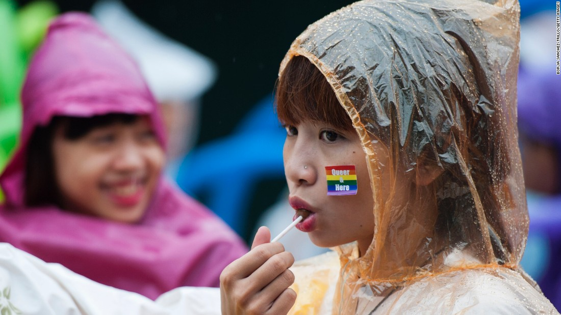 Young Vietnamese wait for the start of the bike rally in Hanoi on August 2, one of the last activities following film screenings, talks, presentations, and a themed party at the four-day festival.