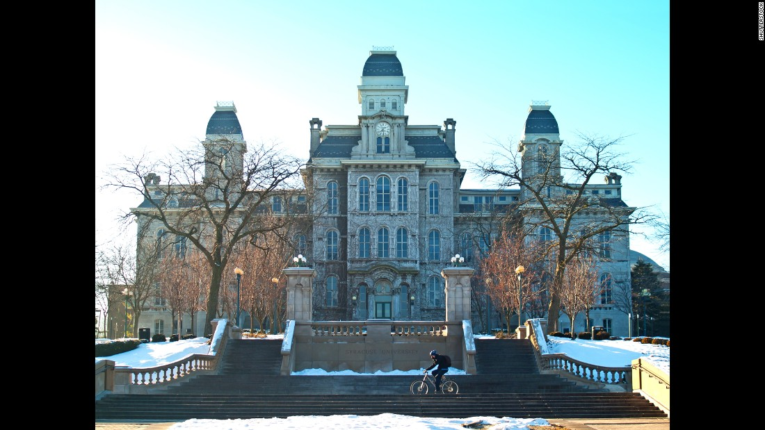 "Syracuse University, home of the Orangemen, came in fifth this year. The school <a href=""http://www.cnn.com/2014/08/05/living/princeton-review-party-schools-syracuse/"">topped the list in 2014</a>."