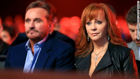 Narvel Blackstock and Reba McEntire announced Monday that they will divorce.