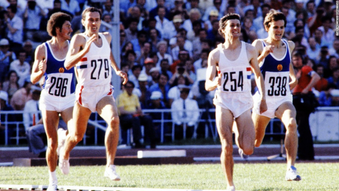 While these Games are largely remembered for a U.S. boycott over the Soviet war in Afghanistan, they also featured an almighty battle between two British middle-distance runners. Steve Ovett took gold over his rival Sebastian Coe in the 800m, despite the latter holding the world record over the distance. Ovett was heavy favorite going into the 1500m and boasted a 45-race winning streak, but Coe avenged his earlier defeat as his compatriot finished third.