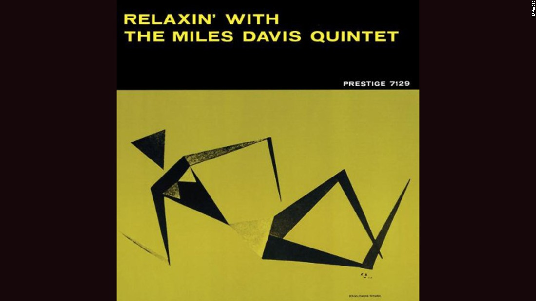 "<strong>""Relaxin' with the Miles Davis Quintet""</strong>: Esmond Edwards' minimalist illustration of a reclining woman is all angles and as sharp as the band itself on Davis' 1956 album. The band included John Coltrane, Red Garland, Paul Chambers and Philly Joe Jones."