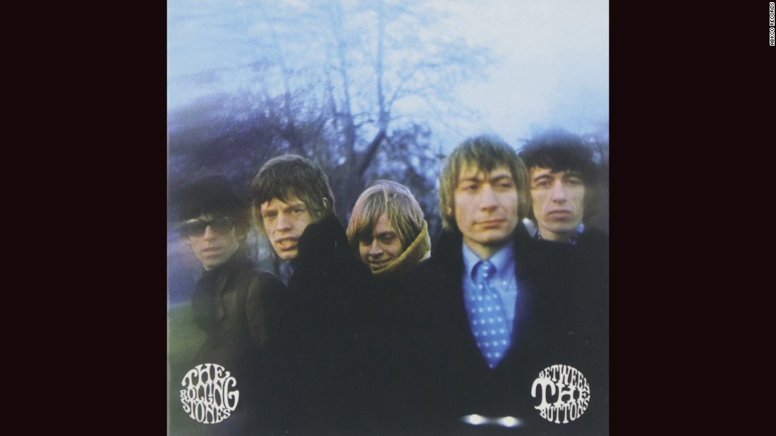"<strong>""Between the Buttons,"" the Rolling Stones</strong>: The Stones' bad-boy image was often just that -- an image -- but you'd never know from looking at the cover of their 1967 album. Gered Mankowitz's photograph shows a group looking positively sinister, with Charlie Watts, of all people, the obvious mastermind."
