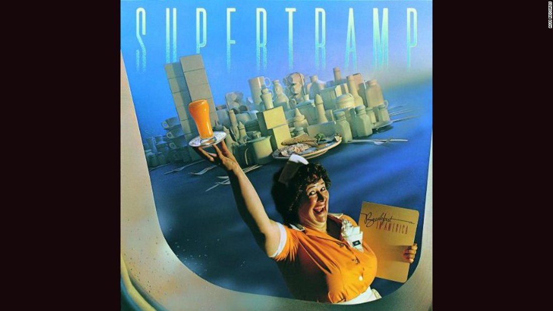 "<strong>""Breakfast in America,"" Supertramp</strong>: The clever cover of Supertramp's 1979 bestseller is Manhattan expressed through diner furnishings: cutlery, coffee cups and boxes. (And oh, yes: a waitress named ""Libby""<a href=""http://101mobility.com/blog/wp-content/uploads/2013/04/statue_of_liberty.jpg"" target=""_blank""> looking distinctly statue-esque.</a>) Mike Doud did the design."