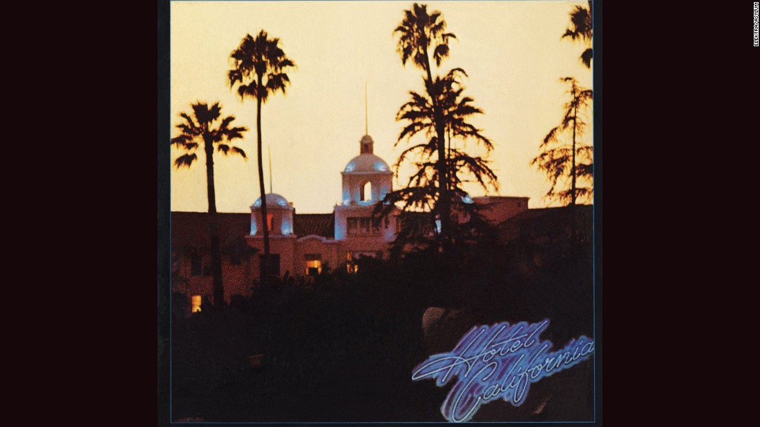 "<strong>""Hotel California,"" Eagles</strong>: The Southern California band's 1976 magnum opus was a world-weary look at El Lay culture, starting with the cover: a photo of the Beverly Hills Hotel by David Alexander, with tweaks by design great John Kosh (ELO's ""A New World Record,"" REO Speedwagon's ""Hi Infidelity""). You can almost smell the colitas."